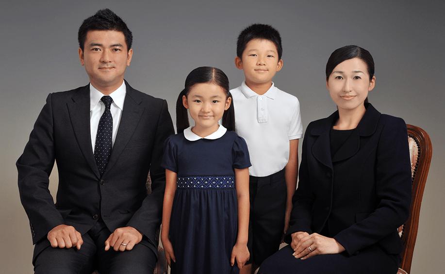 家族写真スライド1