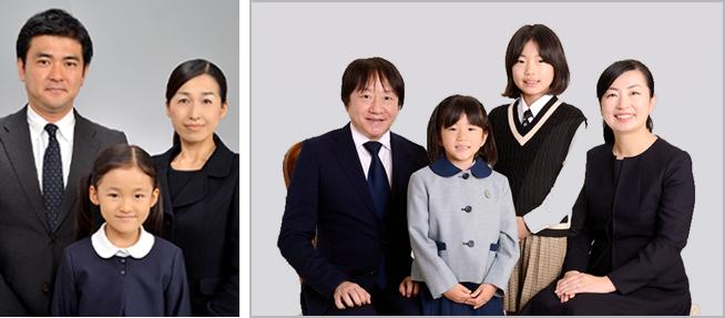 学校提出用家族写真撮影