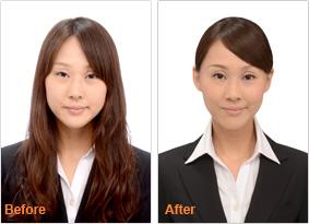 【写真】レディースプラン before after