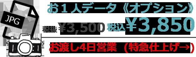 ミライコンパス対応データオプション お1人データ《オプション》 税抜¥3,500 税込¥3,850